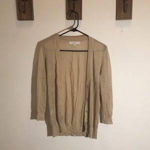 LOFT 3/4 BROWN NUDE CARDIGAN